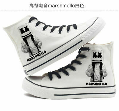 DJ Electronic Music Marshmello high-top unisex canvas shoes New