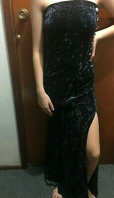 GERRY SHAW CRUSHED VELVET STRAPLESS GOWN DRESS Sz 10 BNWT Free Postage (G45)