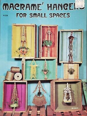 Macrame Hangers for Small Spaces 1975 Paperback H-228