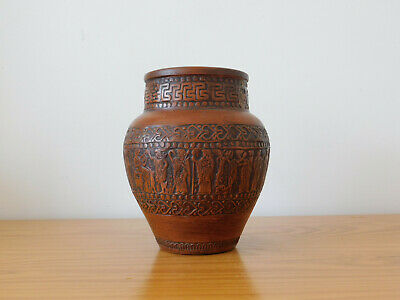 c.20th - Vintage Greek Pottery Pot in Ancient Style