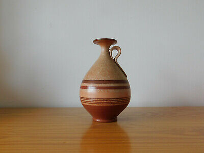 c.20th - Antique Greek Pottery Alabastron Vase in Ancient Style