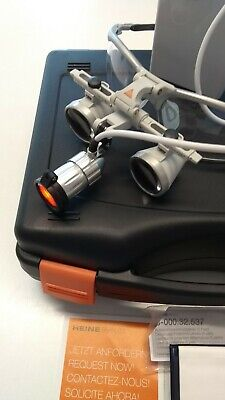 Heine Iview Loupes 2.5x 520mm with Led light and custom case. Ex demo stock