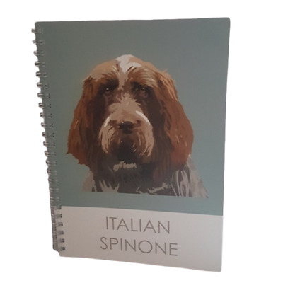 Italian Spinone A5 Notebook Notepad Jotter Metal Spiral Bound 32 Quality Page