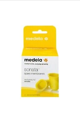 Medela Sonata Spare Membranes, Yellow,  2-Pack, Model 68055 *Brand New* SEALED