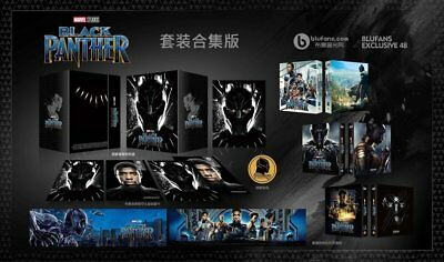 Black Panther Blufans Exklusive BE#48 Boxset Oneclick 2D+3D Blu-ray Steelbook