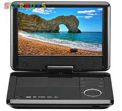"""9"""" Inch Screen Portable DVD Player With In Car 12V Volt Charger & Remote *"""