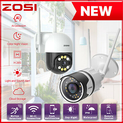 ZOSI 1080P Wireless IP Security Camera Home CCTV System Network WiFi PTZ Outdoor