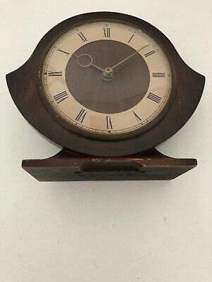 Vintage Smiths 30 Hour Wooden Mantel Clock