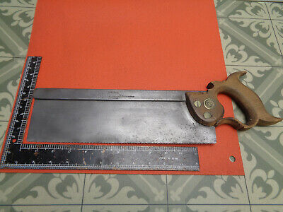 "Vintage Chas gray & sons 12"" tenon saw for restoration TRY brand LOTSW644Q"