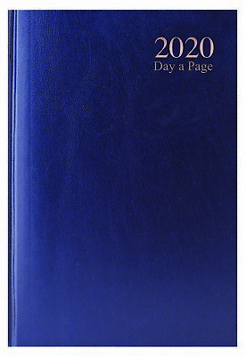 2020 A6 Page a Day Hardback Diary with Ribbon Marker - Blue