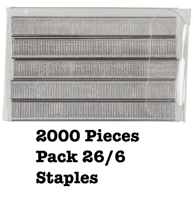 High Quality 26/6 Staples 2000 Pieces Pack - Free Postage