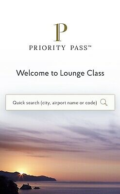 Priority pass Airport Business Lounge Access 10% Discount. Worldwide Access