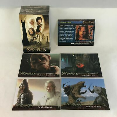 Lord Of The Rings - The Two Towers - Update Edition Card Set (72) - 2003 - NM
