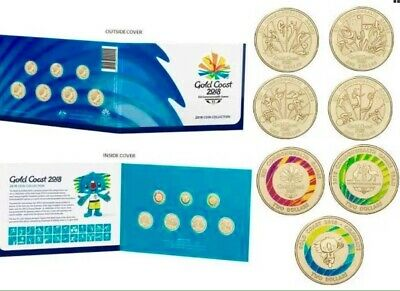 2018 Australia Gold Coast Commonwealth Games 7 Coin Set