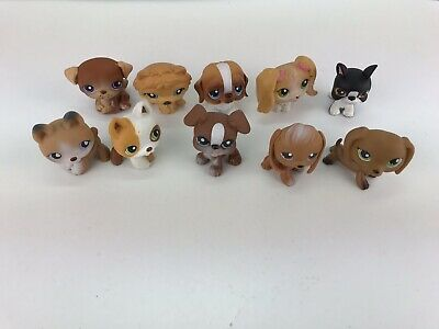Lot of 10 LPS Dogs Littlest Pet Shop Dog Lot Dachshund Shepard And More #U