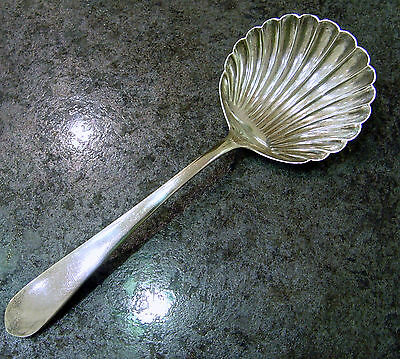 """S. Kirk & Son Sterling """"Old Maryland Plain"""" Solid Shell Fruit Spoon No Mono"""