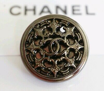 CHANEL BUTTON CC LOGO 20 mm METAL MADE IN FRANCE