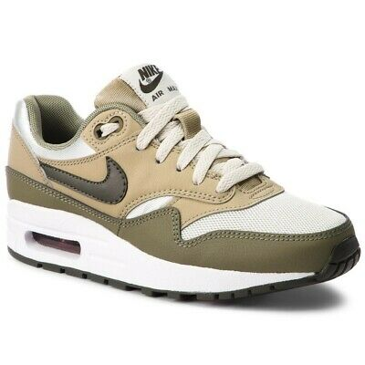 JUNIORS NIKE AIR MAX 1 FB GS White Leather Trainers 705393
