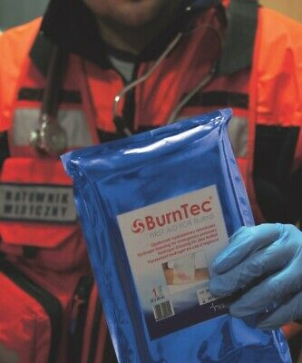 Hydrogel sterile dressing for emergency purposes BurnTec FIRST AID FOR BURNS
