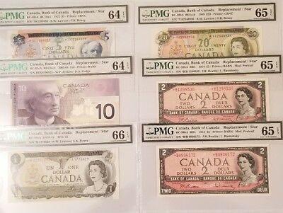Canada Star High Value Replacements  TOP x6 * PMG 66 GUNC RARE ✱ 1971,1954,1969