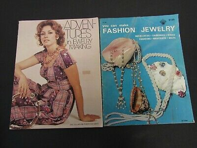 1971 Adventures in Jewelry Making - Liz Grisham - Vintage Beading Book 32 Pages
