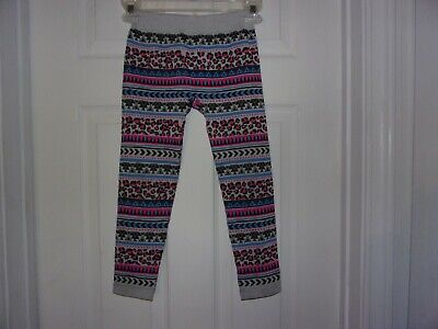 Little Girls Multi Colored Tights/ Pants Size M 7-10  Faded Glory