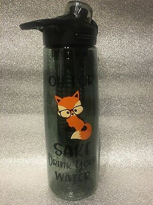 Oh For Fox Sake ...... Water /Drink / Lunch / Sport Bottle - can add a name also