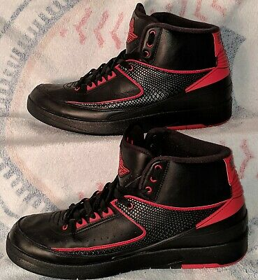 130cee2b04f NIKE AIR JORDAN 2 II Alternate 87 Retro Black Varsity Red Size 13 OG ...
