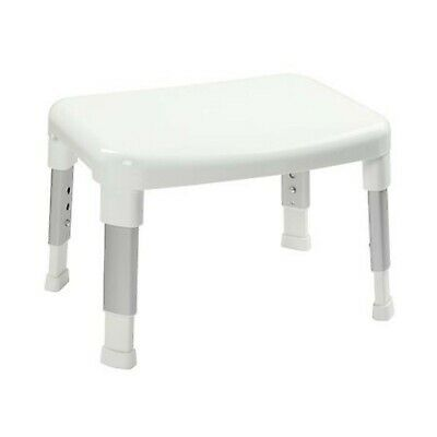 Small Adjustable Shower Seat in White