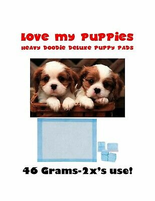 """150ct 23x36"""" Love my Puppies Extra Absorbent Puppy Dog Training Pee Pads 46gr"""