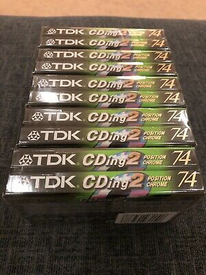 10 x TDK CDingII 74 Chrome Blank Audio Cassette Tapes - Brand New