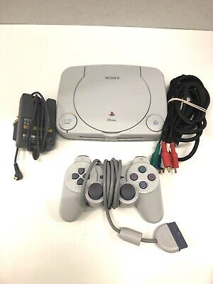 Sony SCPH-101 PlayStation PSOne Slim Console Tested w/ Cords Controller