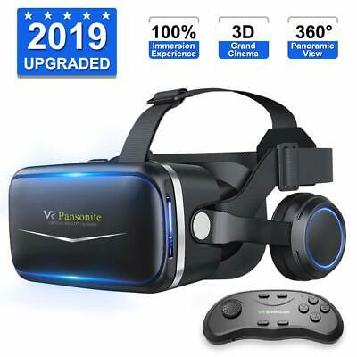 Pansonite Vr Headset with Remote Controller, 3d Glasses Virtual Reality Headset