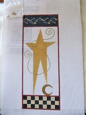 Star handpainted Needlepoint Canvas 18 count