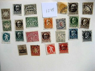 German Bayern, Berlin, used stamps.  Lot # 1249