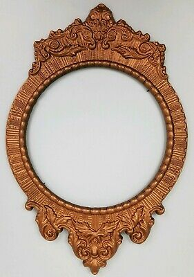 Antique Art Nouveau Victorian Copper Picture Frame Wall Decor