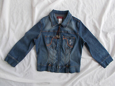89031ca04 Baby Phat Jean Co. Cropped Trucker Style Wash Blue Denim Jacket Girls Large  Euc