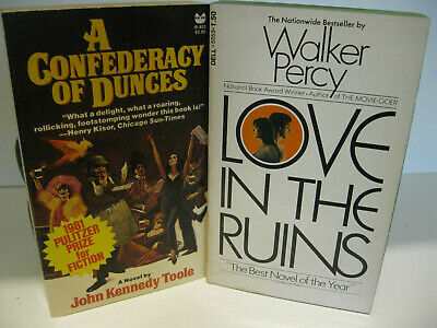 A CONFEDERACY OF DUNCES Toole - LOVE IN THE RUINS Walker Percy PB Lot Near Fine