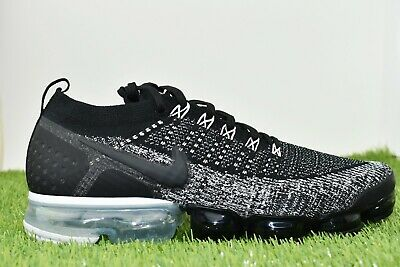 New Nike Air Vapormax Flyknit 2 Men's Size 10.5 White/Black 942842 016