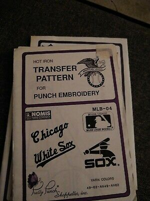 Chicago White Sox BASEBALL Pretty Punch Embroidery Transfer Patterns