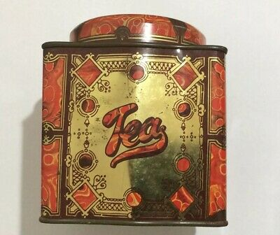 Vintage Tea Tin, Vintage Tea Tin, Vintage Tea Tin Red, Vintage Tea Tin