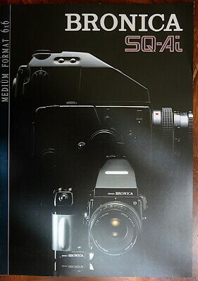 Mint Bronica brochure for SQ-Ai + Zenzanon PS 80mm F/2.8 +lenses + AE Finder
