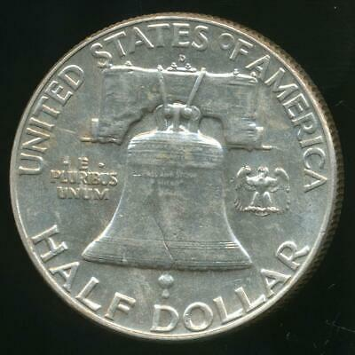 United States, 1963-D Franklin Half Dollar 50c (Silver) - Uncirculated