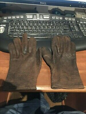 Gloria Leather Gloves Brown Made in Australia Antique Women's 1950's