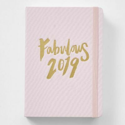 NEW A5 Hardcover 2019 Diary - Pink Fabric
