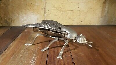 Cenicero Mosca Fly Ashtray Figure Vintage Metalico 18 Cm.