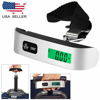 Hostweigh LCD 50kg Mini Hand Carry Luggage Electronic Scale Digital Weighing USA