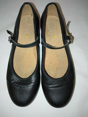 BLOCH Tap Dancing Shoes Black Tap Dance Senior Girls Ladies Size 5.5 ExUsed Cond