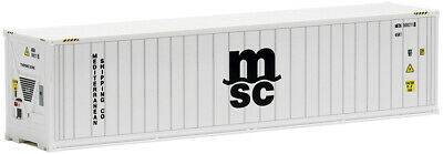 HO Scale Shipping container- 491715- 40ft High Cube Refrigerated - MSC
