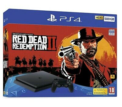 PS4 Console 500 Gb Red Dead Redemption ll Bundle